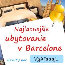 Ubytovanie v Barcelóne už od 8 €